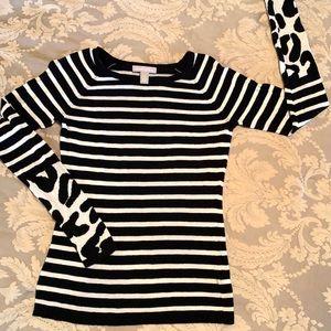 Banana Republic Black/White Sweater, S